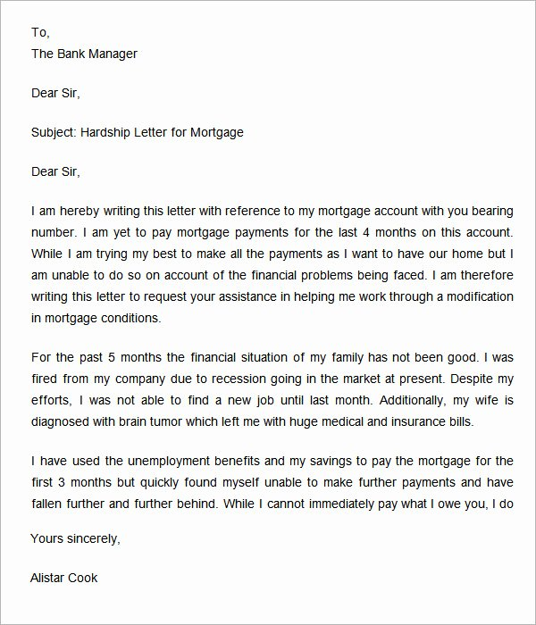 Short Sale Hardship Letter Template Unique Hardship Letter 7 Free Doc Download