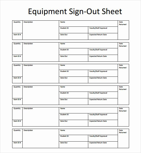 Sign In Out Sheet Template Awesome 13 Sign Out Sheet Templates – Pdf Word Excel