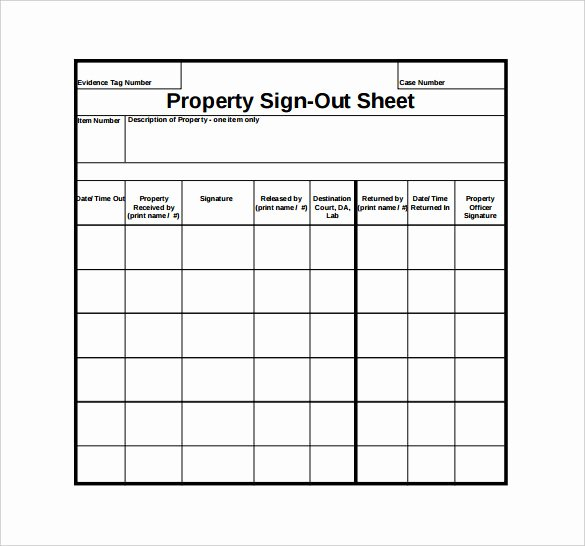 Sign In Out Sheet Template Beautiful Sign Out Sheet Template 14 Free Word Pdf Documents