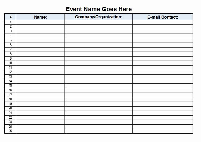 Sign In Out Sheet Template New Sign In Sheet Template