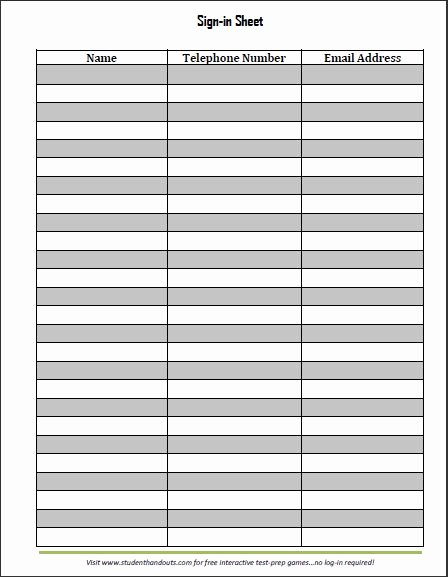 Sign In Sheet Template Doc Best Of Guest and Visitor Sign In Sheet