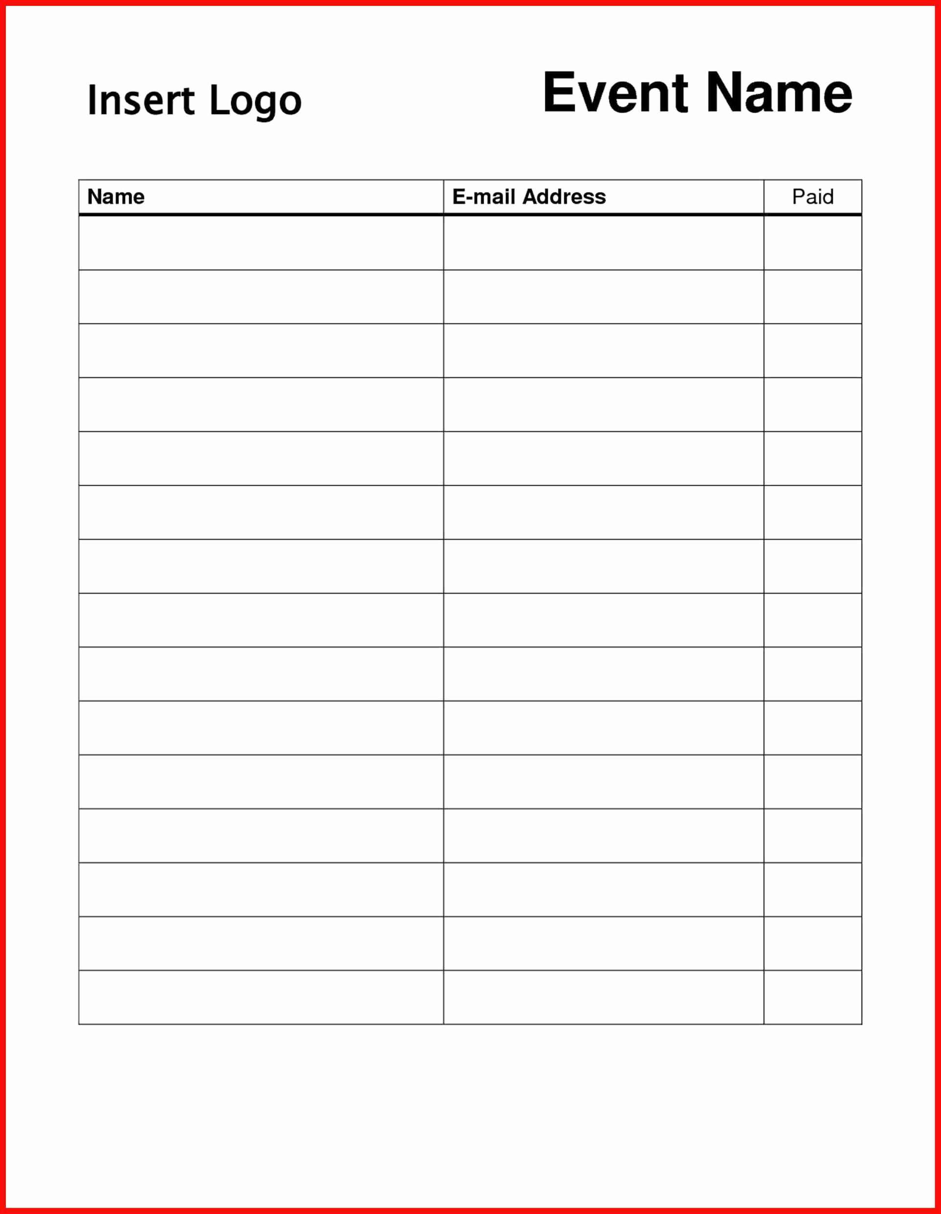 Sign In Sheet Template Doc Luxury Free Sign Templates Word