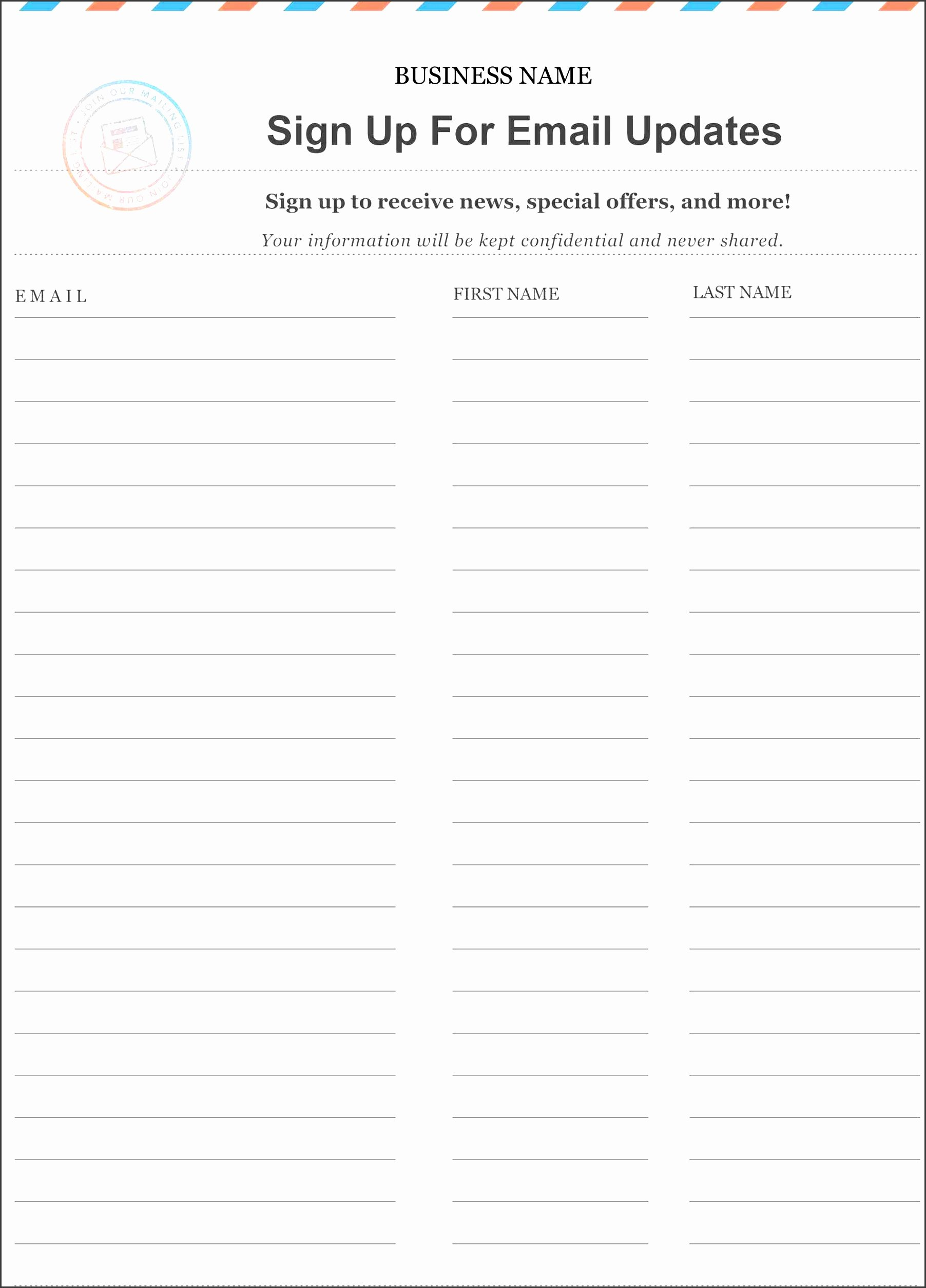 Sign Up form Template Word Lovely 10 Make Free Sign Up Sheet In Word Sampletemplatess