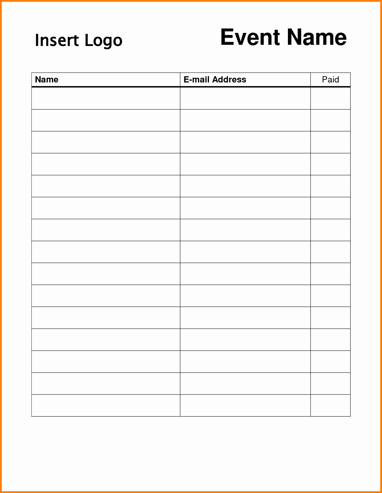 Sign Up form Template Word Unique Doc Word Template Sign Up Sheet – Sign Up Sheets