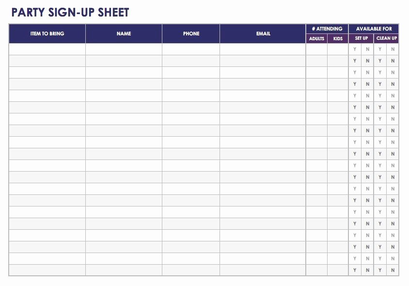 Sign Up Sheet Template Free Luxury Free Sign In and Sign Up Sheet Templates