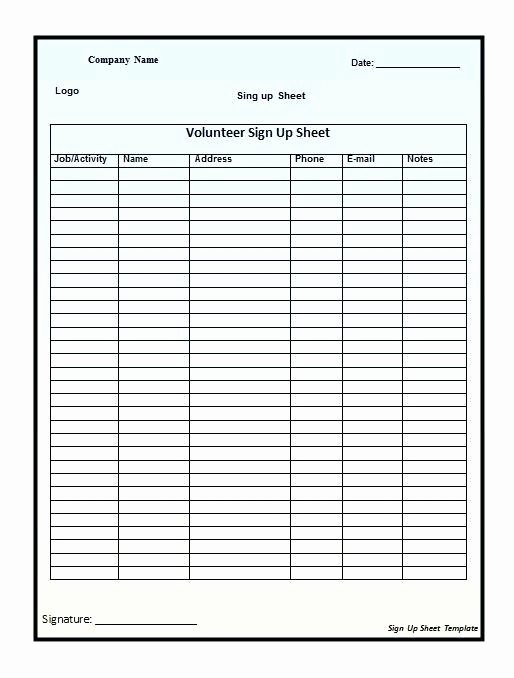Sign Up Sheet Template Free New Customer Service Log Sheet Template Sign Up – Skincense