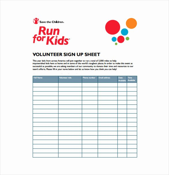 Sign Up Sheet Template Free Unique 19 Sign Up Sheet Templates – Free Sample Example format