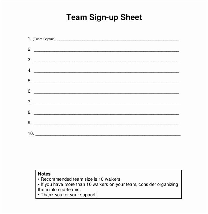Sign Up Sheets Template Beautiful Sign Up Sheets 58 Free Word Excel Pdf Documents