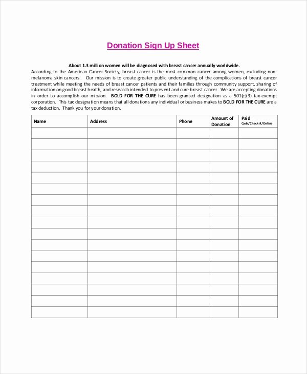 Sign Up Sheets Template Inspirational Sign Up Sheet 16 Free Pdf Word Documents Download