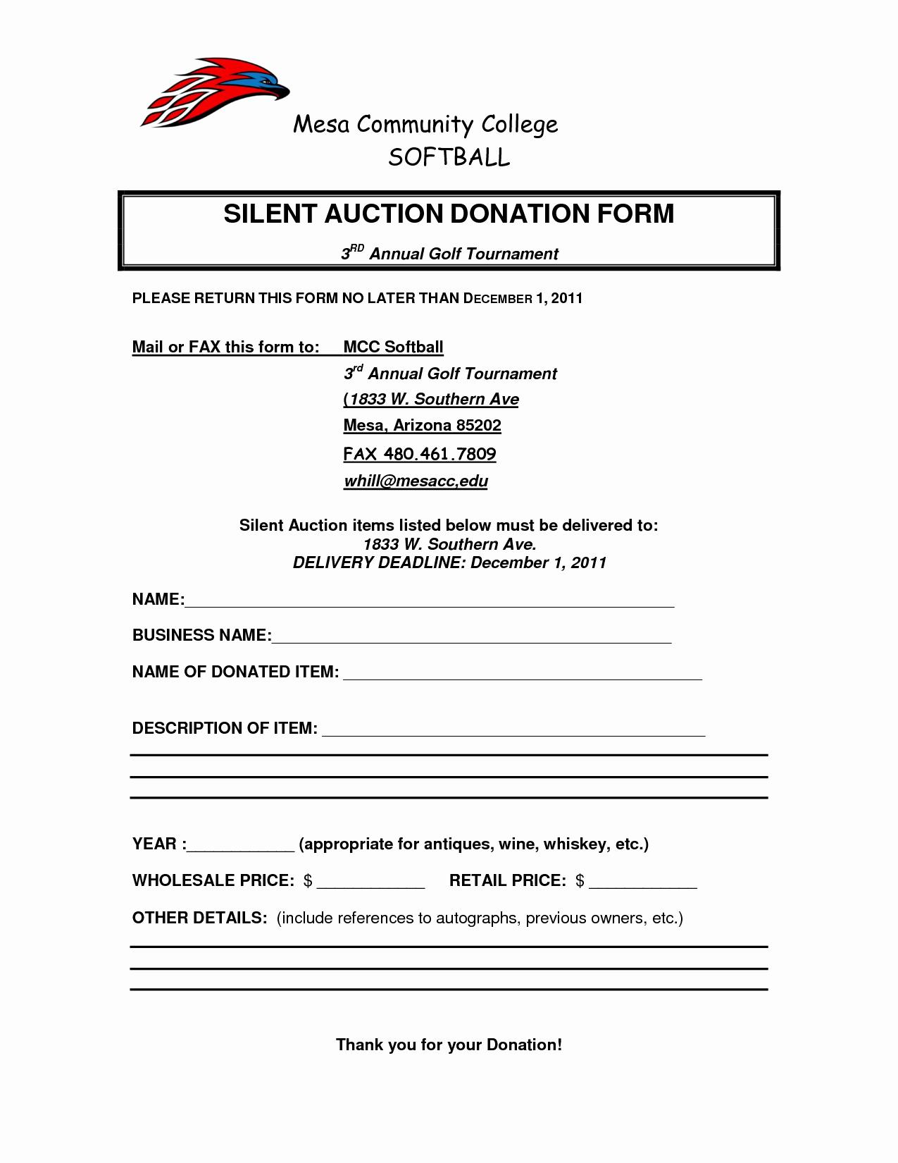 Silent Auction Donation Letter Template Beautiful Silent Auction Donation Request form by Ttn