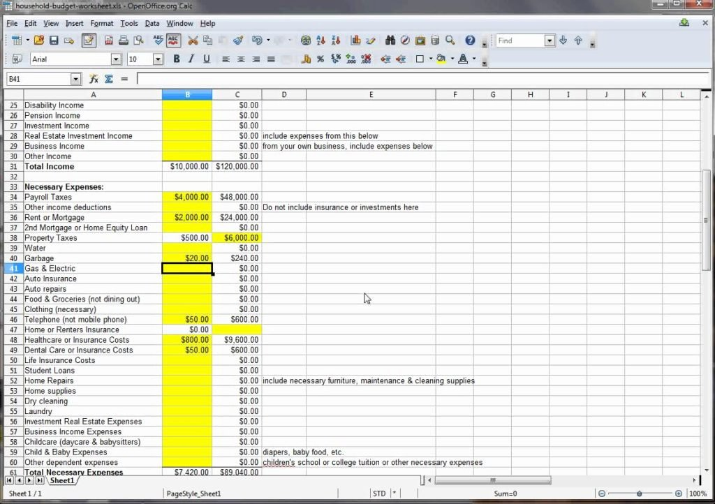 Simple Budget Template Excel Best Of Household Bud Excel Template