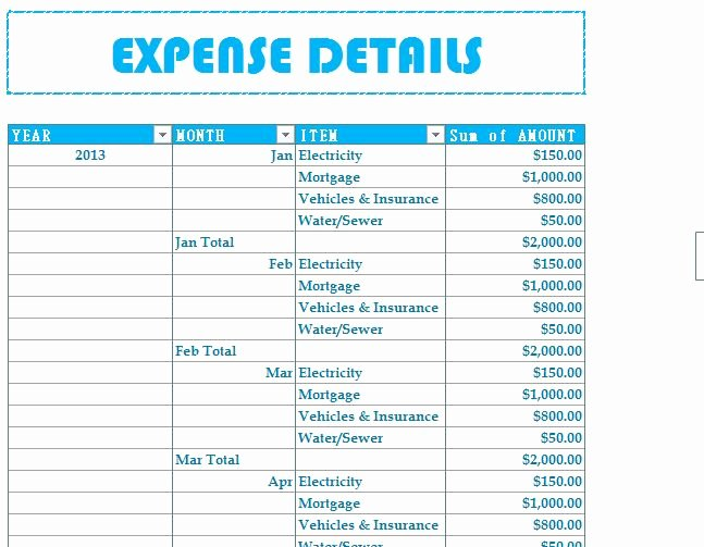 Simple Budget Template Excel Elegant Household Bud Expenses My Excel Templates