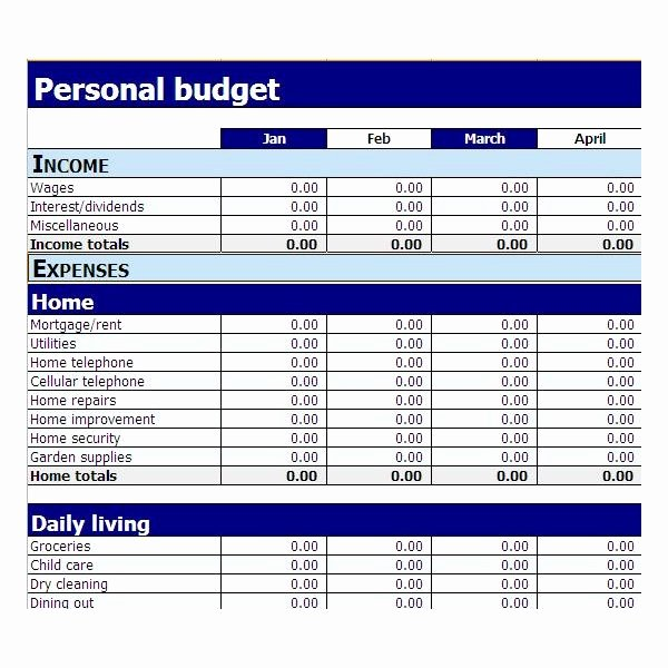 Simple Budget Template Excel Fresh Simple Bud Template Excel