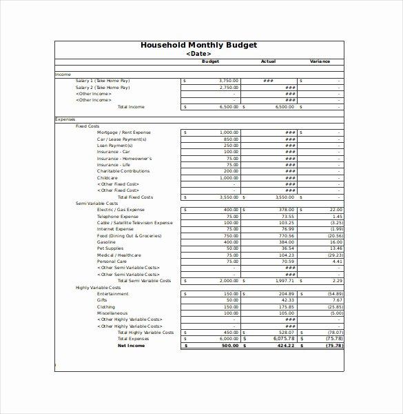 Simple Budget Template Excel Inspirational Simple Household Bud Worksheet Kidz Activities