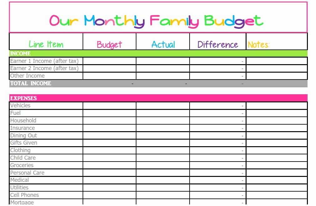 Simple Budget Template Excel Lovely Household Spreadsheet Templates Spreadsheet Templates for