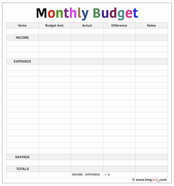 Simple Budget Template Excel New Simple Monthly Bud Template