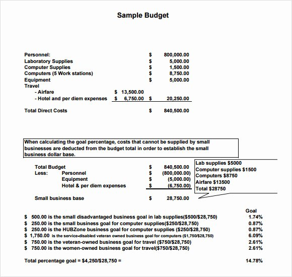 Simple Business Budget Template Beautiful 8 Bud Samples