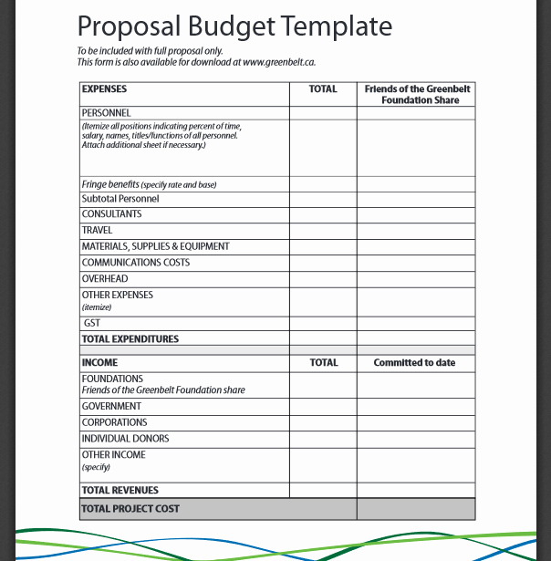 Simple Business Budget Template Fresh Basic Bud Proposal format Pdf Bud Templates