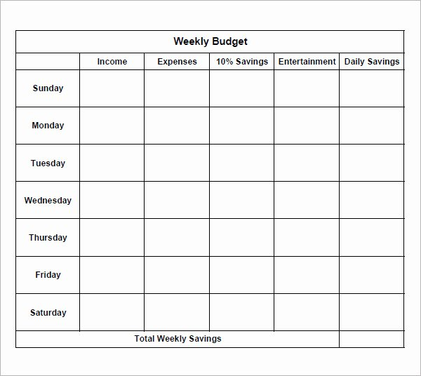 Simple Business Budget Template Inspirational 8 Examples Of Bi Weekly Bud Templates