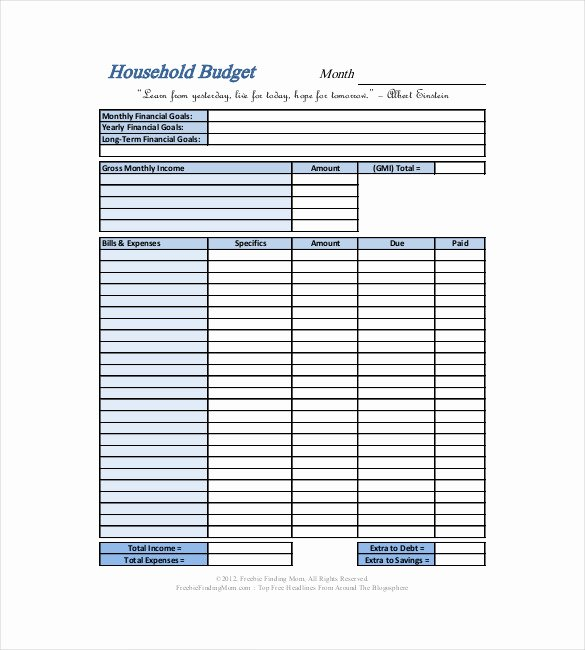 Simple Business Budget Template Luxury 10 Household Bud Templates – Free Sample Example