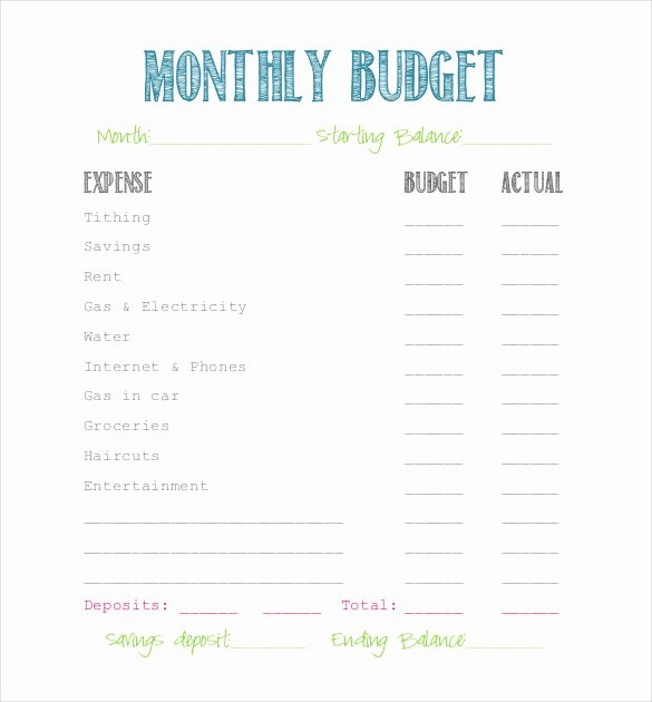 Simple Business Budget Template Unique Simple Bud Template 9 Free Word Excel Pdf