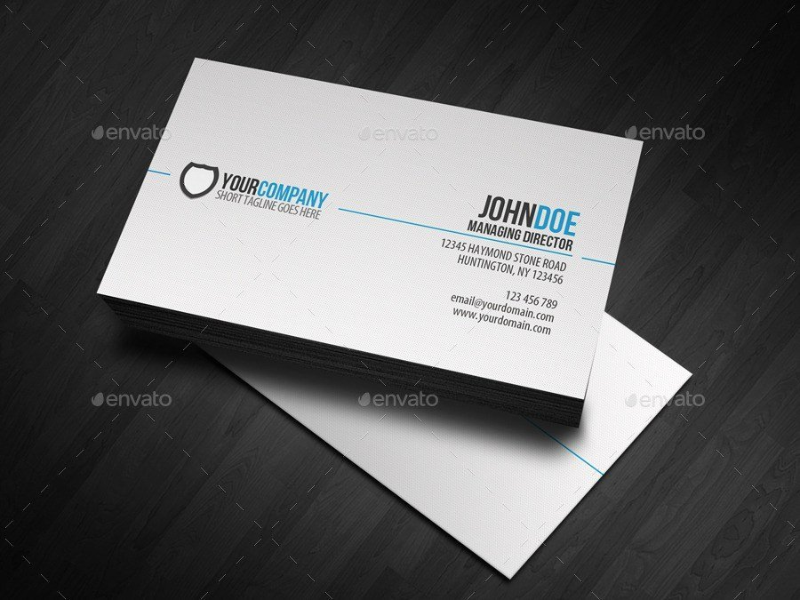 Simple Business Card Template Awesome 31 Professional & Simple Business Cards Templates for 2018