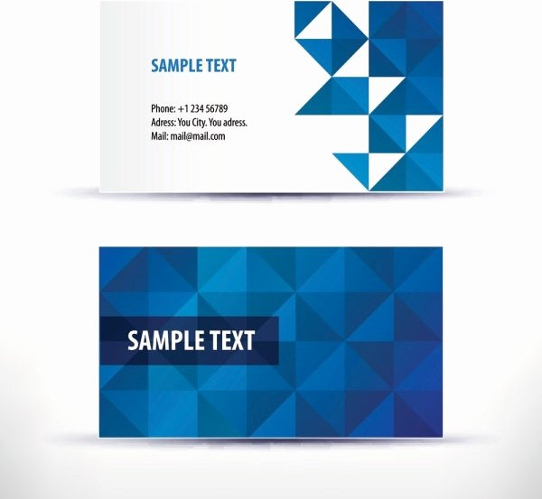 Simple Business Card Template Awesome Business Card Template Free Vector