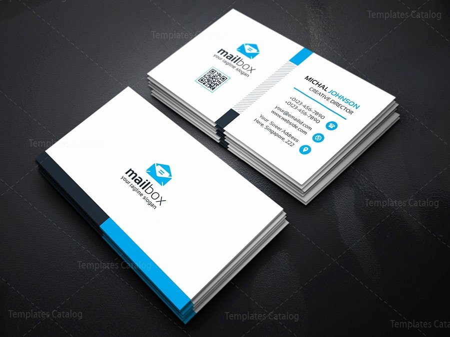 Simple Business Card Template Awesome Simple Business Card Design Template Template Catalog