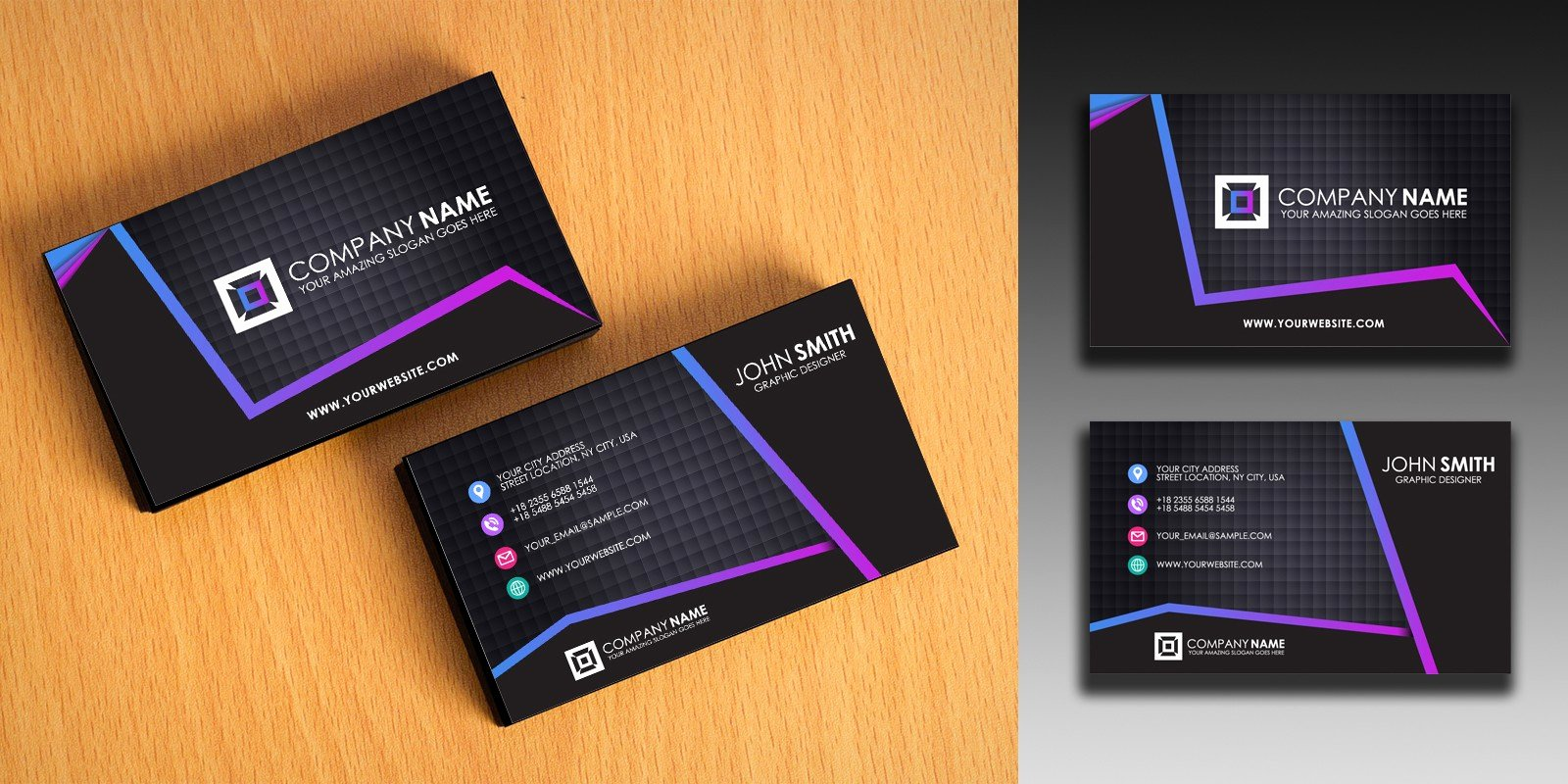 Simple Business Card Template Beautiful Clean and Simple Business Card Template