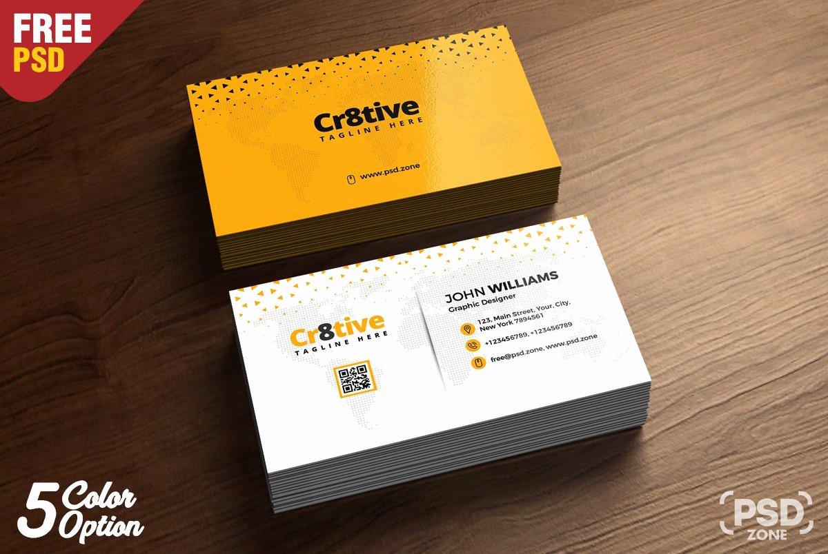 Simple Business Card Template Beautiful Simple Business Card Design Template Psd Download Psd