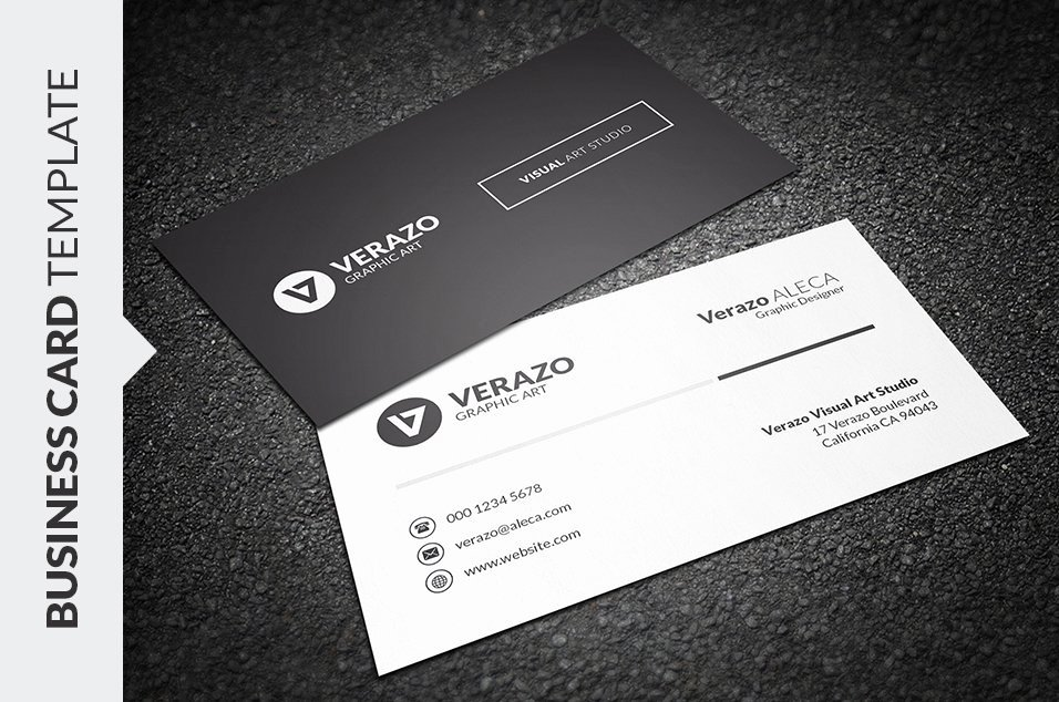 Simple Business Card Template Fresh Clean & Simple Business Card Business Card Templates