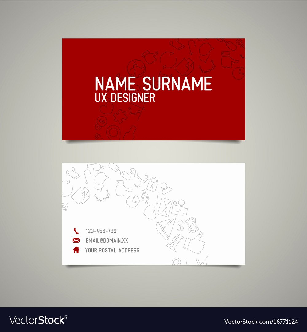 Simple Business Card Template Fresh Modern Simple Business Card Template for Ux Vector Image