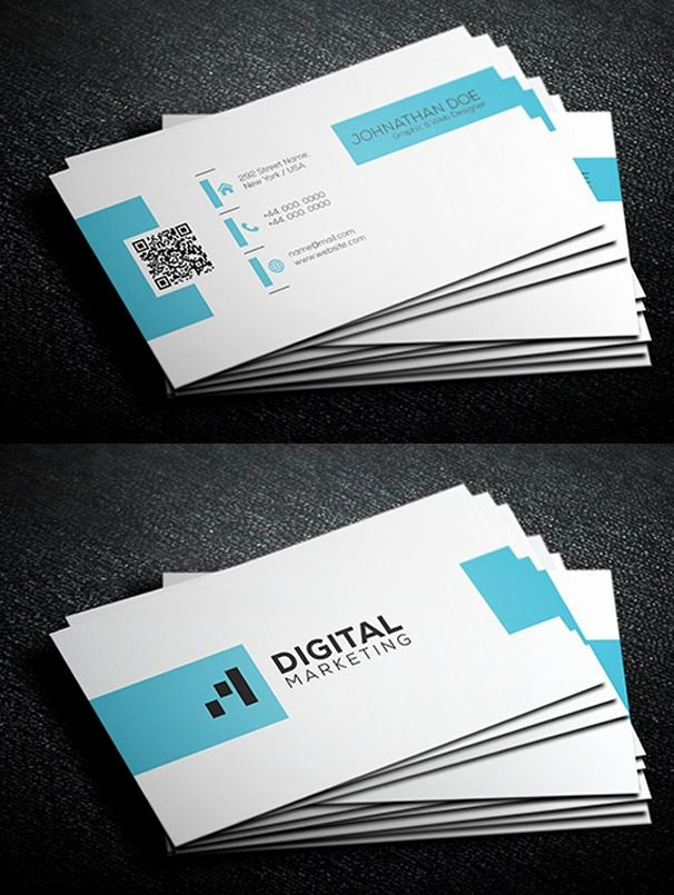 Simple Business Card Template Fresh Simple Corporate Business Card Template