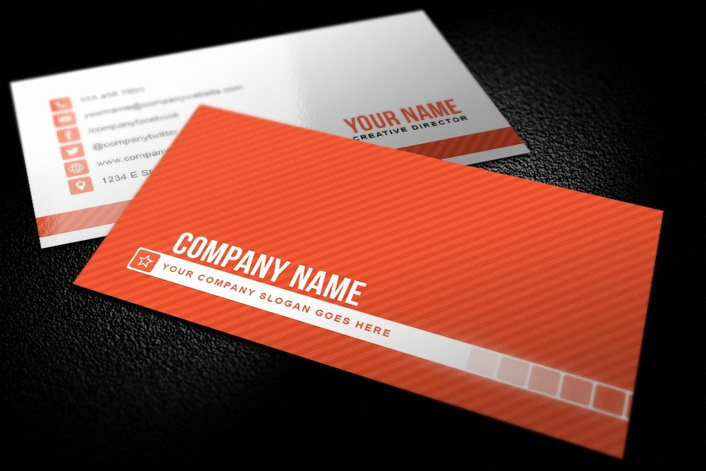 Simple Business Card Template Fresh Simple Striped Business Card Templat Business Card