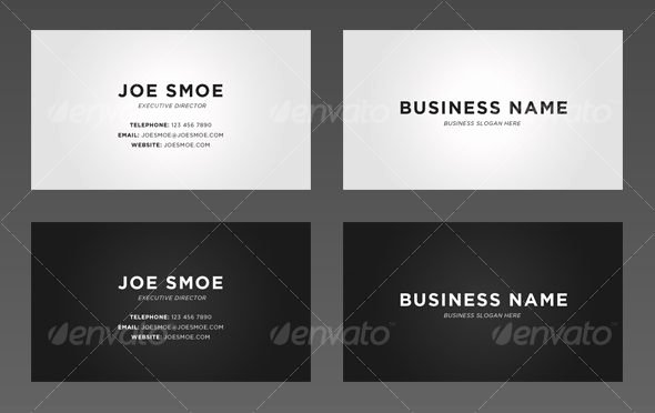 Simple Business Card Template Inspirational Simple Business Cards Examples