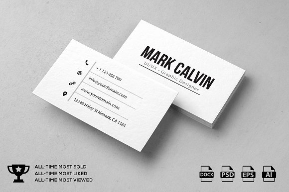 Simple Business Card Template Inspirational Simple Individual Business Card Business Card Templates