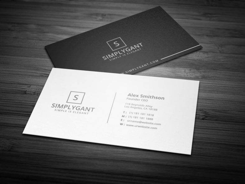 Simple Business Card Template Lovely 14 Black and White Business Card Templates Editable Psd