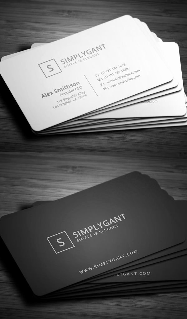 Simple Business Card Template Lovely Best 25 Minimal Business Card Ideas On Pinterest