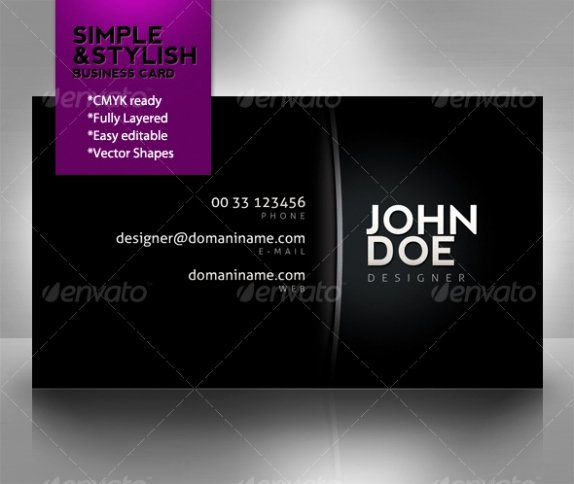 Simple Business Card Template Lovely Cardview – Business Card & Visit Card Design