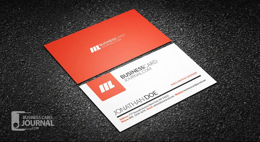 Simple Business Card Template Lovely Free Simple & Clean Creative Business Card Template
