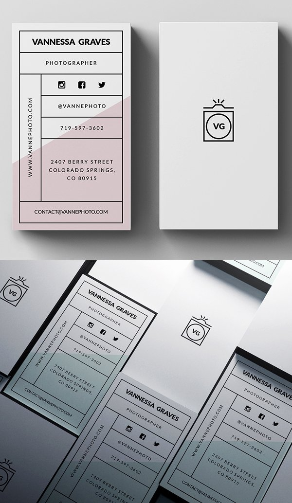 Simple Business Card Template New 30 Minimalistic Business Card Designs Psd Templates