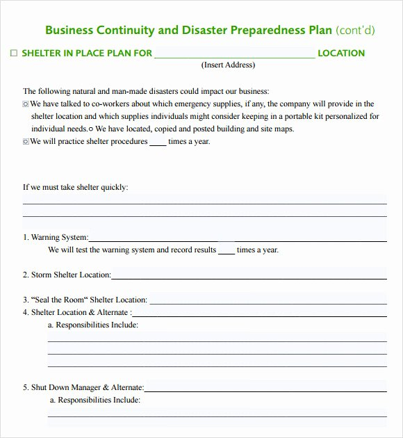 Simple Business Continuity Plan Template Beautiful 12 Sample Business Continuity Plan Templates