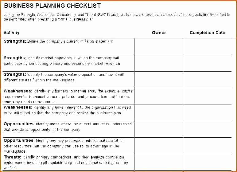 Simple Business Continuity Plan Template Elegant Simple Checklist Template Business Continuity Plan