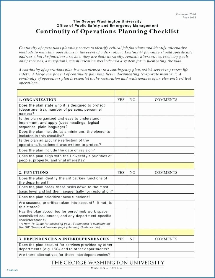 Simple Business Continuity Plan Template Elegant Template Continuity Plan Template for Manufacturing