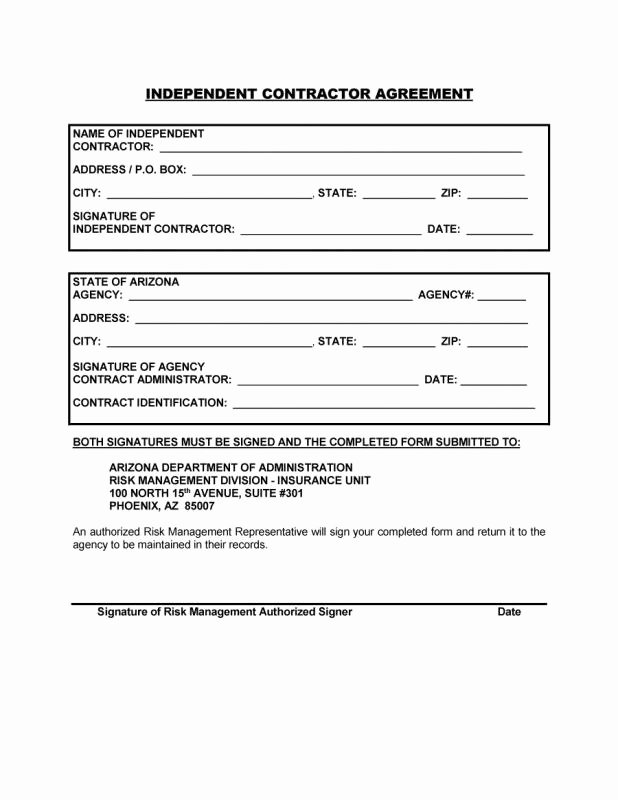 Simple Business Contract Template Best Of Simple Independent Contractor Agreement