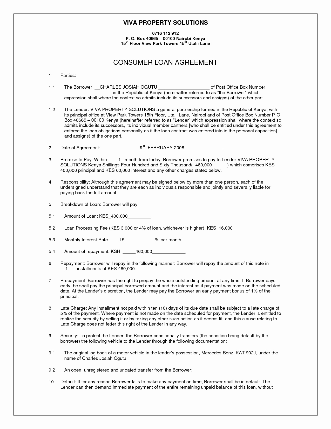 Simple Business Contract Template Fresh 10 Best Of Simple Loan Agreement Letter Simple