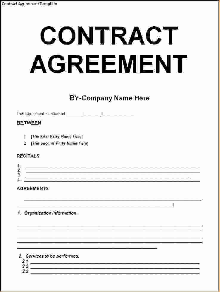 Simple Business Contract Template Lovely 5 Agreement Contract Templatereport Template Document