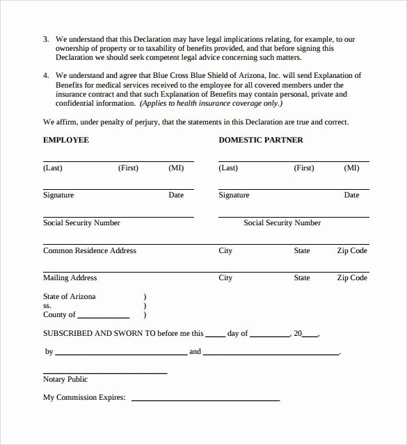 Simple Business Contract Template Luxury 13 Domestic Partnership Agreements to Download
