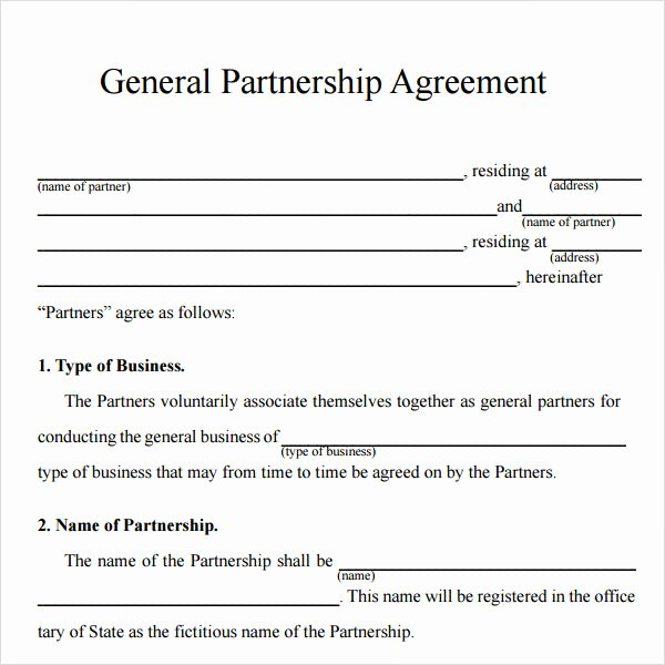 Simple Business Contract Template New 16 Partnership Agreement Templates