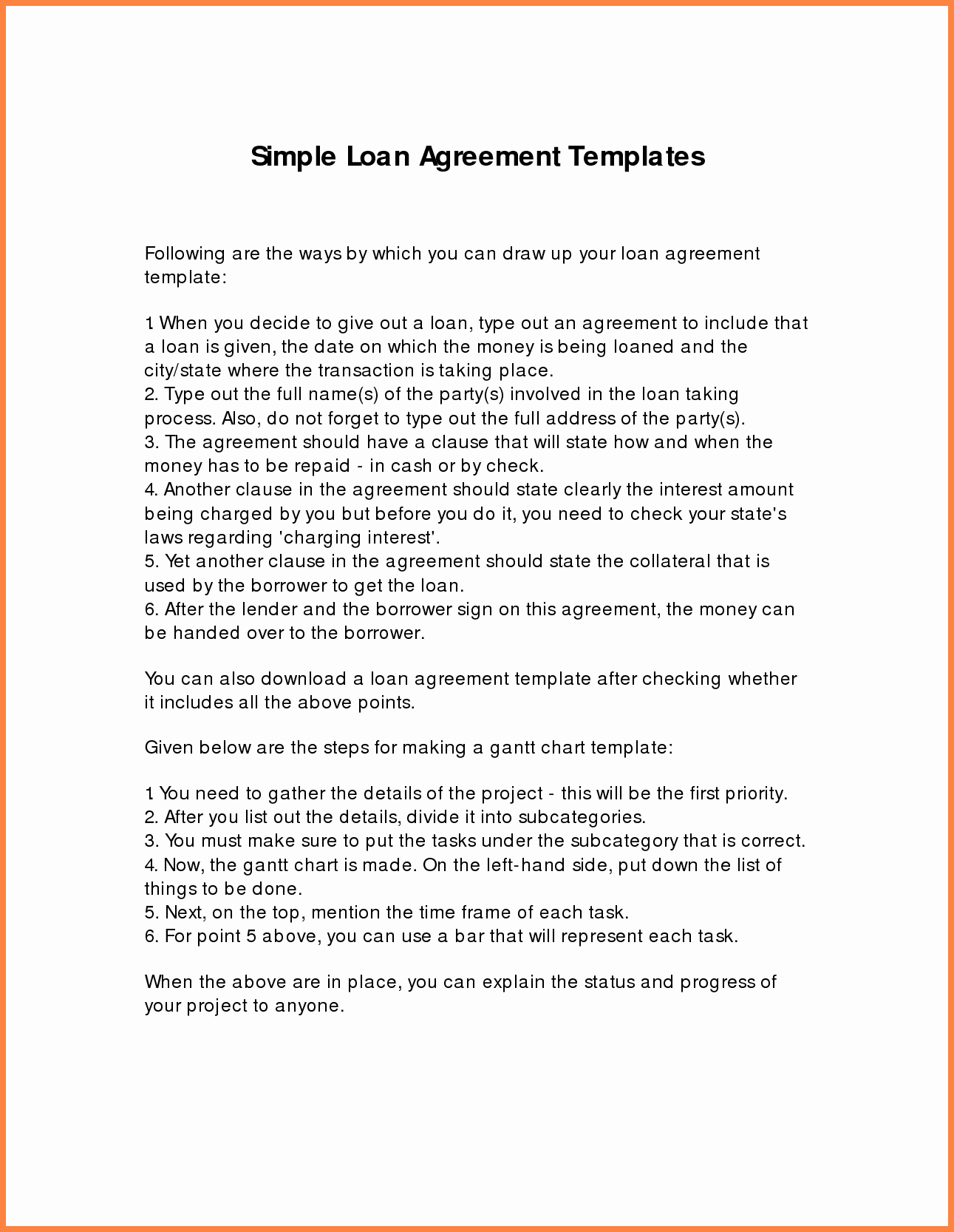 Simple Business Contract Template New 8 Loan Agreement Template Between Family Members